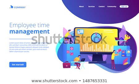 Time and attendance tracking system concept landing page Stock photo © RAStudio