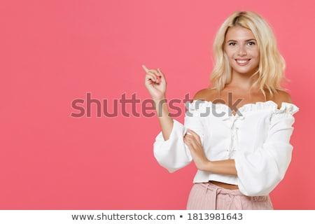 çekici sarışın kadın beyaz vücut güzellik Stok fotoğraf © pdimages