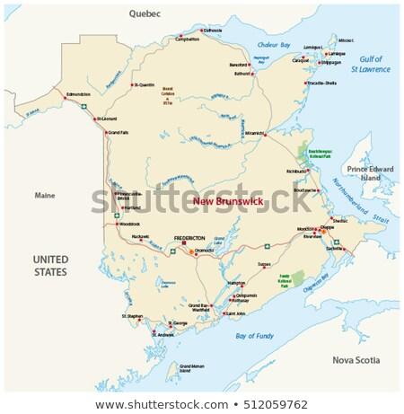 New Brunswick travel map Stock photo © speedfighter