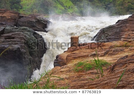 whitewater at Murchison Falls in Africa Stock photo © prill