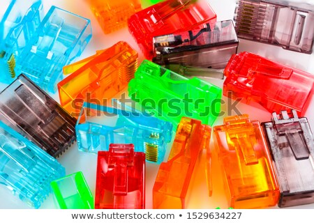 RJ-45 Connectors isolated on multi-colored background Stock photo © zhekos