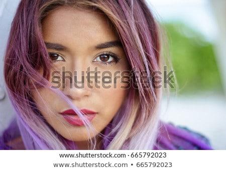 Portret chudy nastolatek uśmiechnięty fałdowy Zdjęcia stock © stockyimages