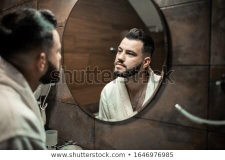 Férfiak fürdőszoba meztelen barátok csapat fiatal Stock fotó © photography33