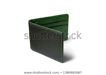 Zöld pénztárca izolált fehér vásárlás szövet Stock fotó © shutswis