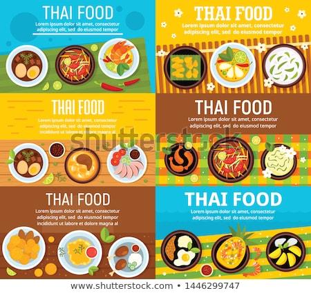 comida · Bangkok · Tailândia · comida · de · rua · cidade · rua - foto stock © travelphotography