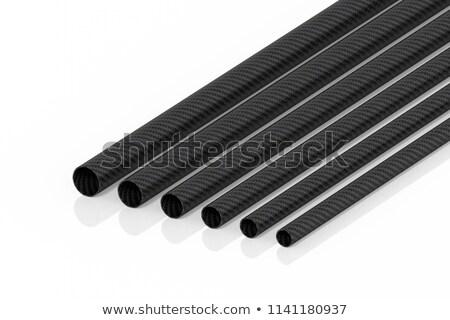 Koolstofvezel pijpen 3D koolstof textuur technologie Stockfoto © tiero