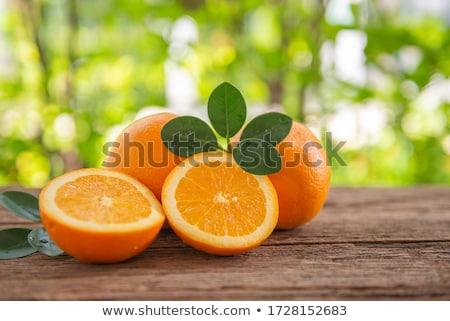 Narancsok asztal nyár terasz függőágy ház Stock fotó © tannjuska