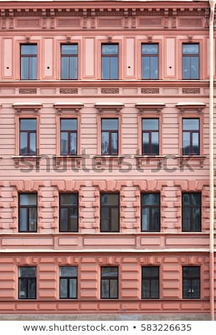 pattern of house facade with windows stock photo © meinzahn
