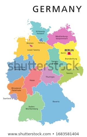 Germany map with Saxony-Anhalt Stock photo © Ustofre9