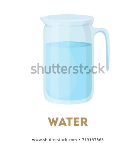Víz kancsó izolált fehér közelkép művészet Stock fotó © doupix
