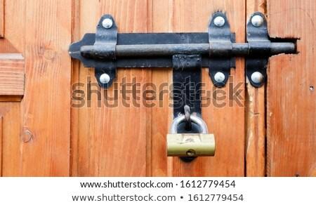 ржавые · замок · старые · двери · дома - Сток-фото © smuki