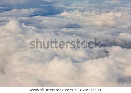 Büyük güçlü fırtına bulutları yaz duman imzalamak Stok fotoğraf © digoarpi