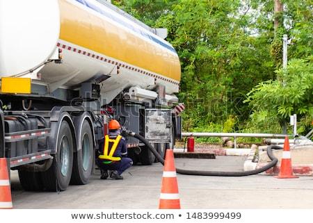 Foto stock: Combustível · recipiente · isolado · branco · Óleo · vermelho