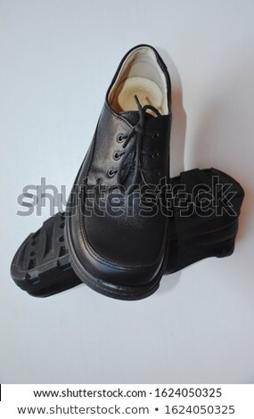 Closeup view of boot with black laces Stock photo © tarczas