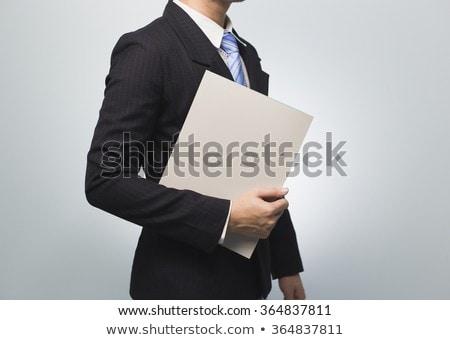 Stok fotoğraf: Man Holding Folders