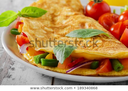omelet and vegetables Stock photo © M-studio