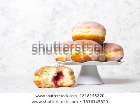 Lezzetli tatlı çörek reçel buzlanma lezzetli tatlı çörek Stok fotoğraf © filipw