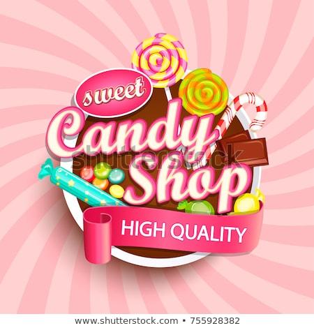 конфеты · магазин · красочный · рисунок · интерьер · торты - Сток-фото © adrenalina