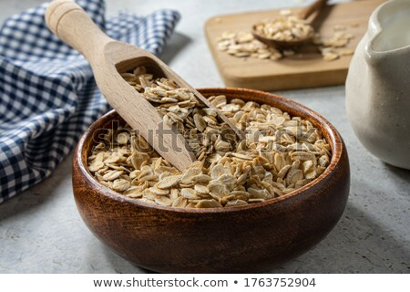 Cuchara saludable orgánico granola metal completo Foto stock © PixelsAway