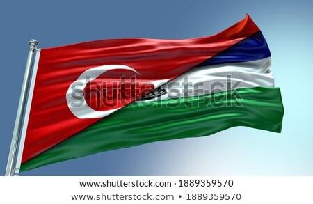 Turcja Lesotho flagi puzzle odizolowany biały Zdjęcia stock © Istanbul2009