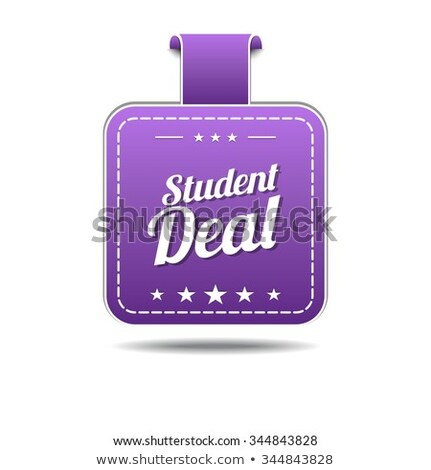 Student Deal Violet Vector Icon Design Stock photo © rizwanali3d