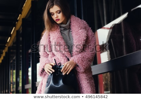 Beautiful Fashion Model In Fur Coat Stock photo © adamr