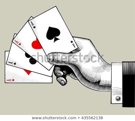 Vintage poker diamonds card, vector illustration Stock photo © carodi