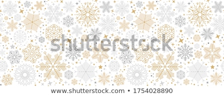 Abstract Christmas background seamless pattern with snowflakes  Stock photo © vectorikart