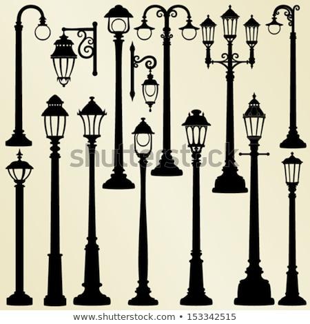 Lámpa posta illusztráció fehér ház út Stock fotó © bluering