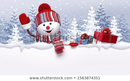 雪だるま · 冬 · クリスマス · スペース · 白 · ニンジン - ストックフォト © zurijeta