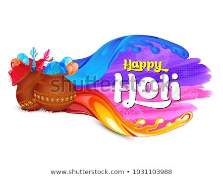 coloful splash for happy holi Stock photo © SArts