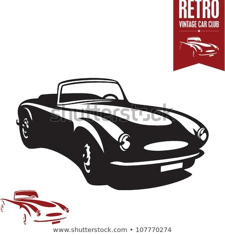 Retro kabriolet sportu samochodu vintage kolekcja Zdjęcia stock © sidmay