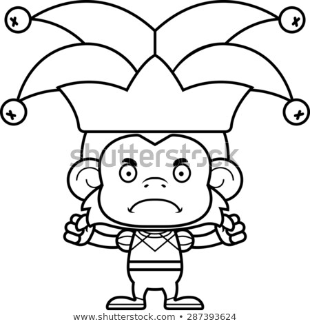 Cartoon Angry Jester Monkey Stock photo © cthoman