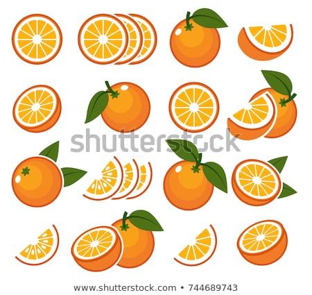 Narancs gyümölcsök ikonok közelkép egész édes Stock fotó © robuart