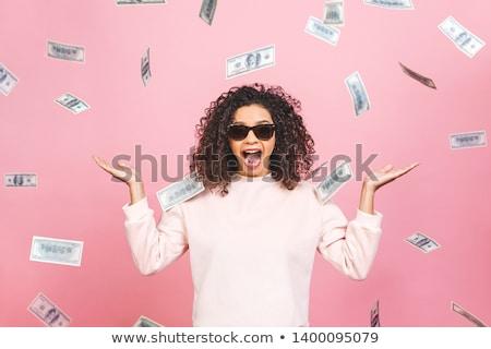 surpreendido · empresária · dinheiro · ventilador · retrato - foto stock © traimak
