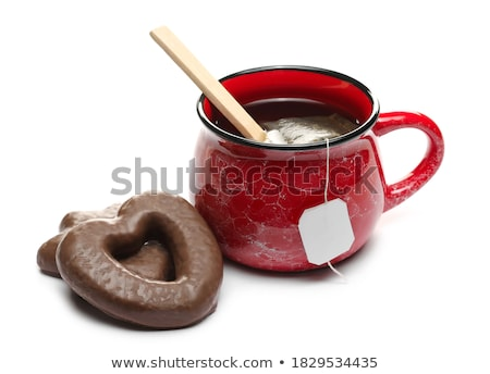 Gingerbread heart on wooden background Stock photo © brebca