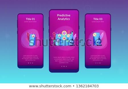 big data healthcare app interface template stock photo © rastudio