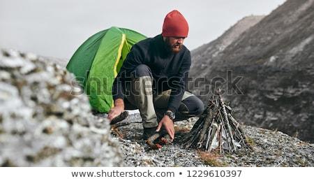 Extremo camping inverno montanha floresta noite Foto stock © Kotenko