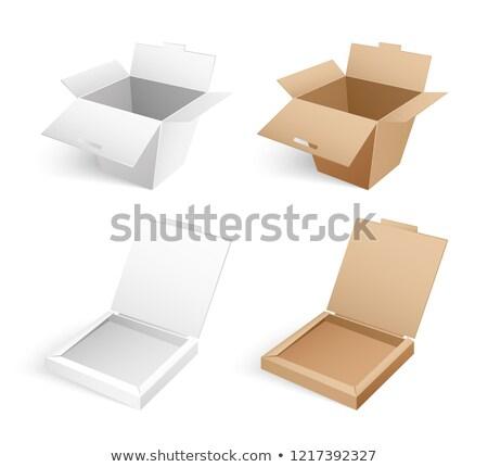 Stok fotoğraf: Açmak · pizza · konteyner · etiket · vektör · yalıtılmış