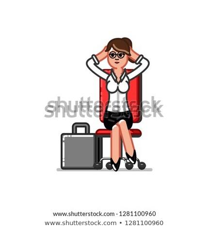 Iş kadını sandalye eps 10 iş para Stok fotoğraf © netkov1