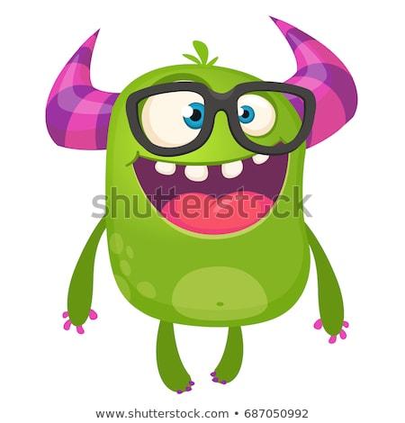green fantasy cartoon monster character Stock photo © izakowski
