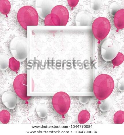 balões · branco · quadro · papel · de · parede - foto stock © limbi007