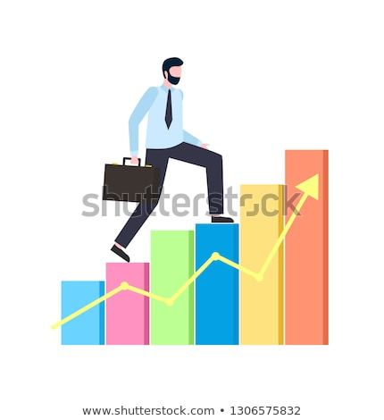 Person Climbing Colored Flowchart and Arrow Vector Stock photo © robuart