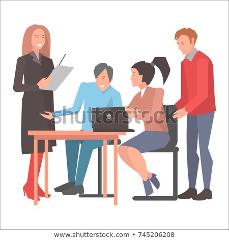 People Resolving Issues on Computer in Startup Stock photo © robuart