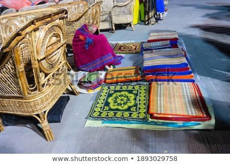Verkoper wollen arab baard goederen markt Stockfoto © jossdiim