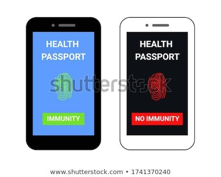 Paspoort vector mensen immuun coronavirus kan Stockfoto © THP