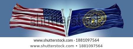 Vlag Nebraska alle communie lagen Stockfoto © nazlisart