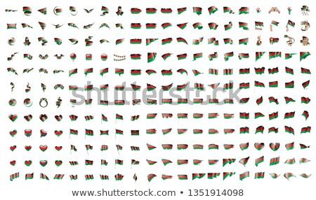 Büyük toplama vektör bayraklar Malawi arka plan Stok fotoğraf © butenkow