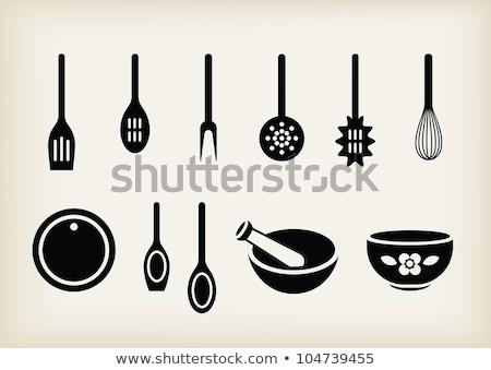 Batidor tazón icono vector ilustración Foto stock © pikepicture