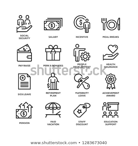 Beneficios texto cuaderno escritorio 3d Foto stock © Mazirama